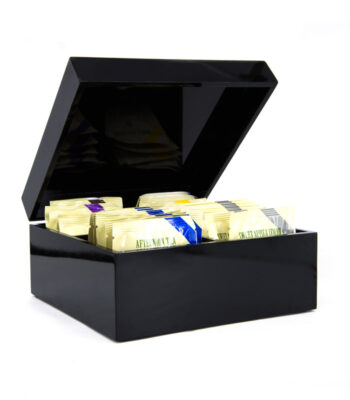 BLACK LACQUER BOX 30 TEABAGS