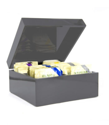 GREY LACQUER BOX 30 TEABAGS