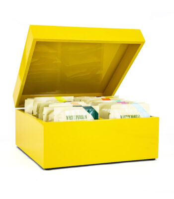 YELLOW LACQUER BOX 30 TEABAGS