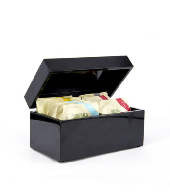BLACK LACQUER BOX TEABAGS
