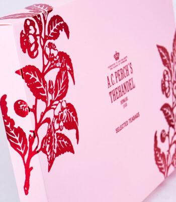 Pink gaveæske med teabags