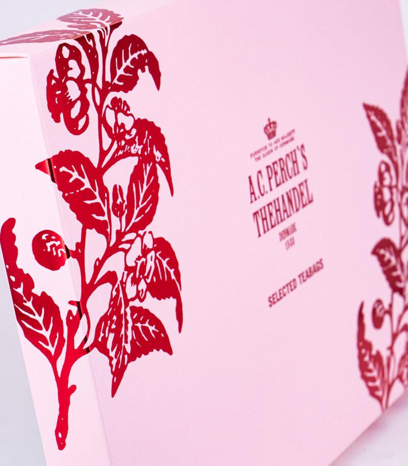 Rosa Geschenk-Box mit Teebeutel